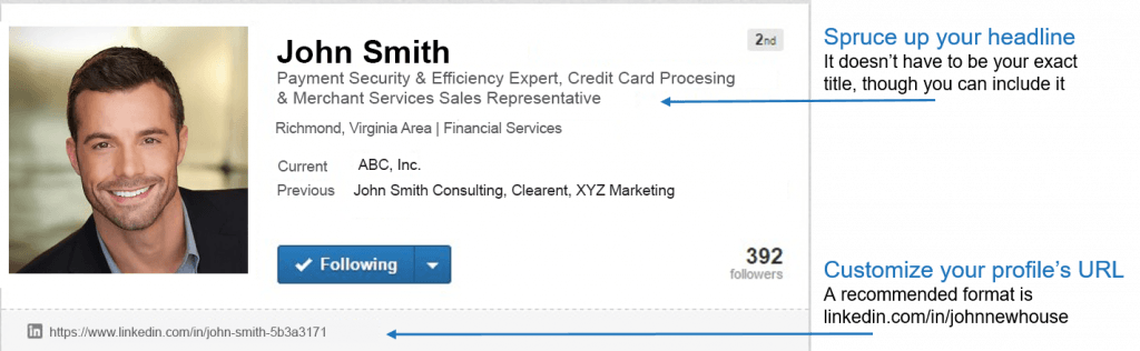 linkedin profile screenshot